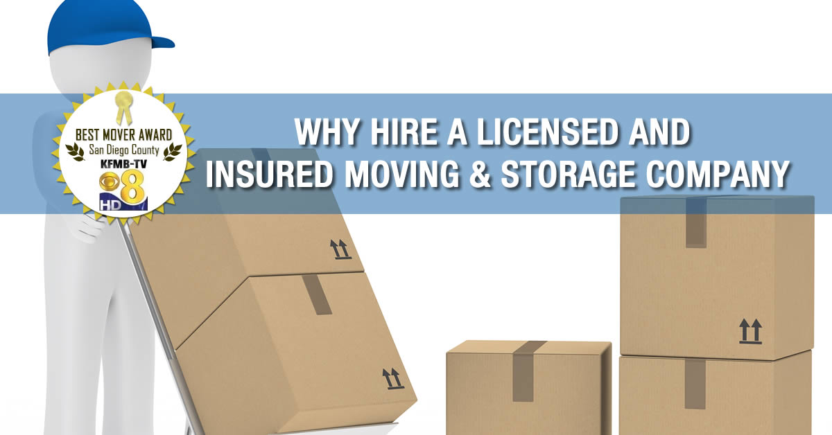 Licensed and insured Professional movers san diego